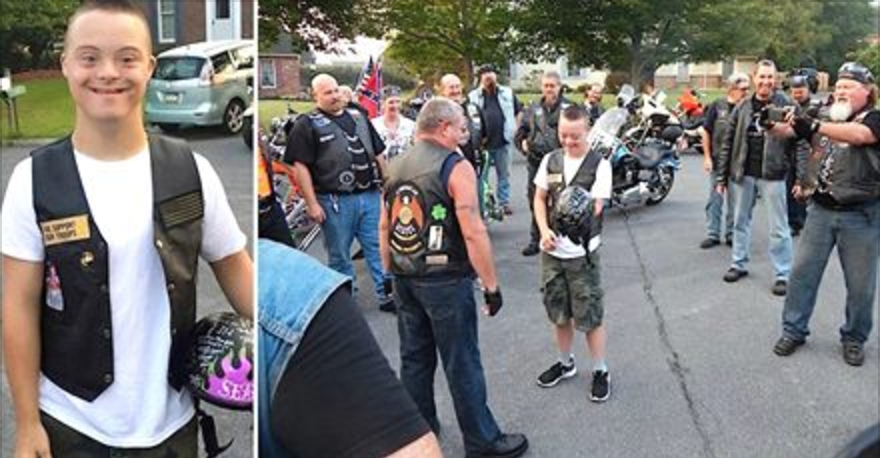 Screen Shot 2016 11 14 at 3.09.00 PM.png - Bikers Escorted Young Boy With Down Syndrome To Protect Him Against Bullies