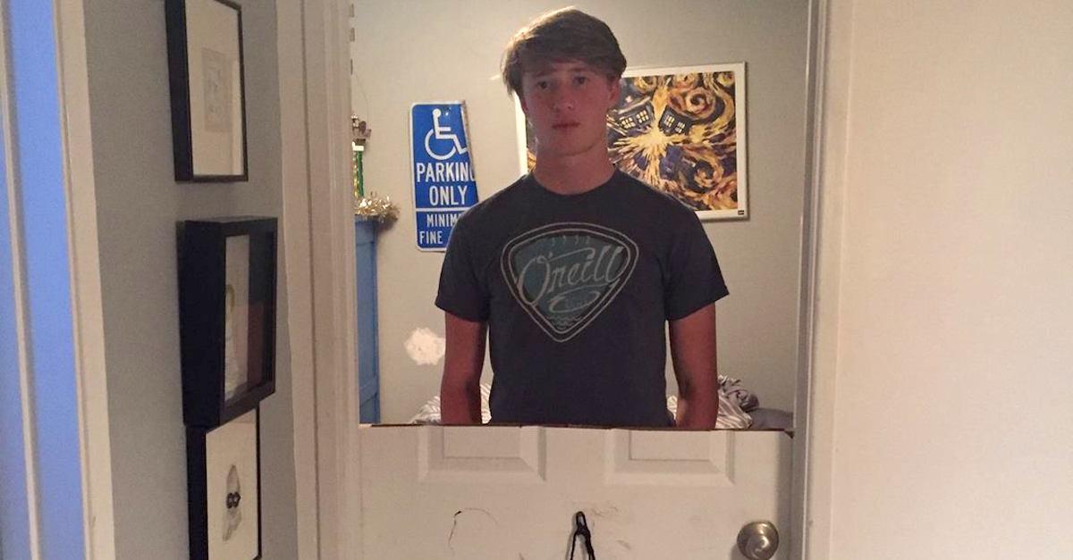doorteen2.jpg - Father Punished Disrespectful Teen Who Slammed The Door On Him By Cutting The Door In Half