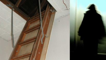 stranger in attic 412x232.jpg - Mother Discovered Stranger Living In Her Attic After Hearing Strange Noises At Night
