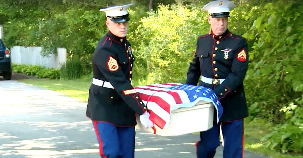 10 4 3 A.jpg - Two Marines Carried The Casket Of Hero Dog To Bring Him Back Home