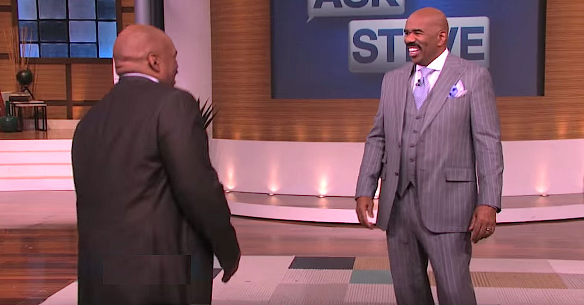 Screen Shot 2016 05 06 at 5.jpg - Guest Told Steve Harvey He Had An 'Identity Problem,' Steve Couldn't Stop Laughing After Seeing Him