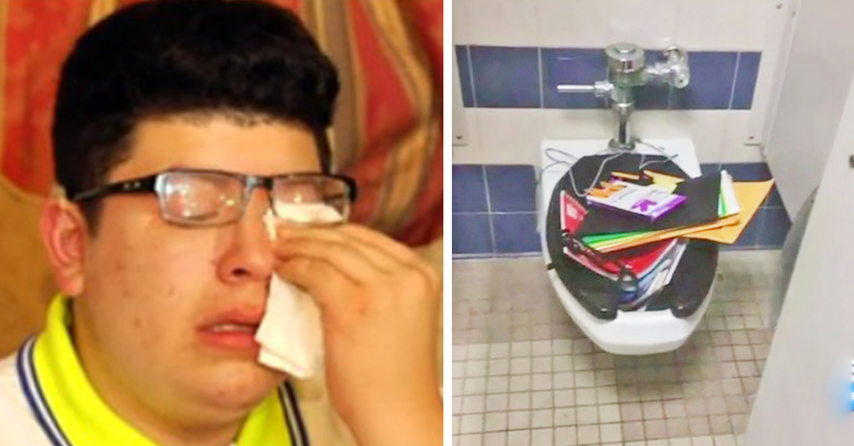 deaf student.jpg - Mother Pulled Deaf Student Out Of School After Bullies Threw His Notebooks In The Toilet
