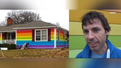 rainbow house against hatred 412x232.jpg - LGBT Supporter Painted His House In Rainbow Colors To Get Revenge At Nearby Church
