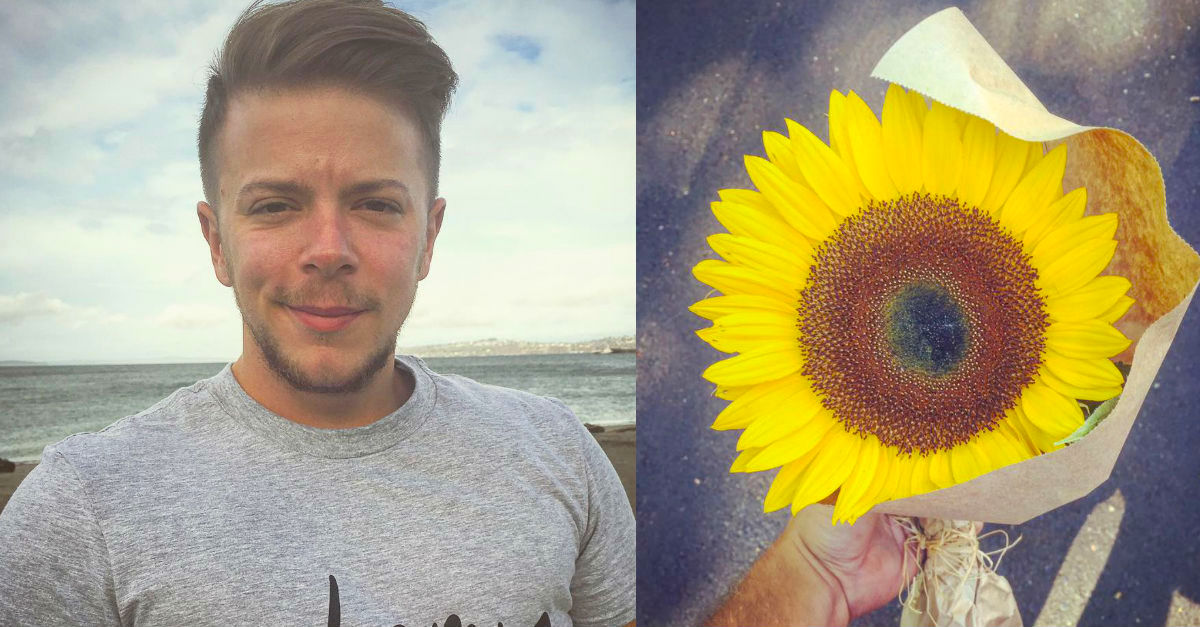 sunflowerA.jpg - Woman Left In Tears After Stranger Gave Her A Sunflower Days After Her Fiance Passed Away