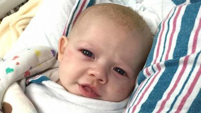 vonvon rsv baby min 1 412x232.jpg - Dad Warned Other Parents Of RSV, A Deadly Disease That Can Easily Be Mistaken As Common Cold In Babies