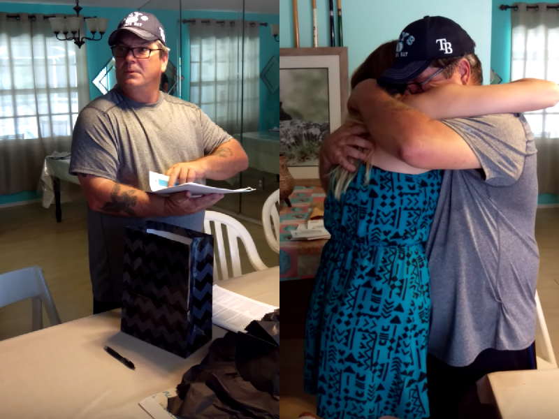 adoption 1.jpg - Girl Gave Her Stepdad The Best Birthday Gift: Legal Documents So He Could Finally Adopt Her