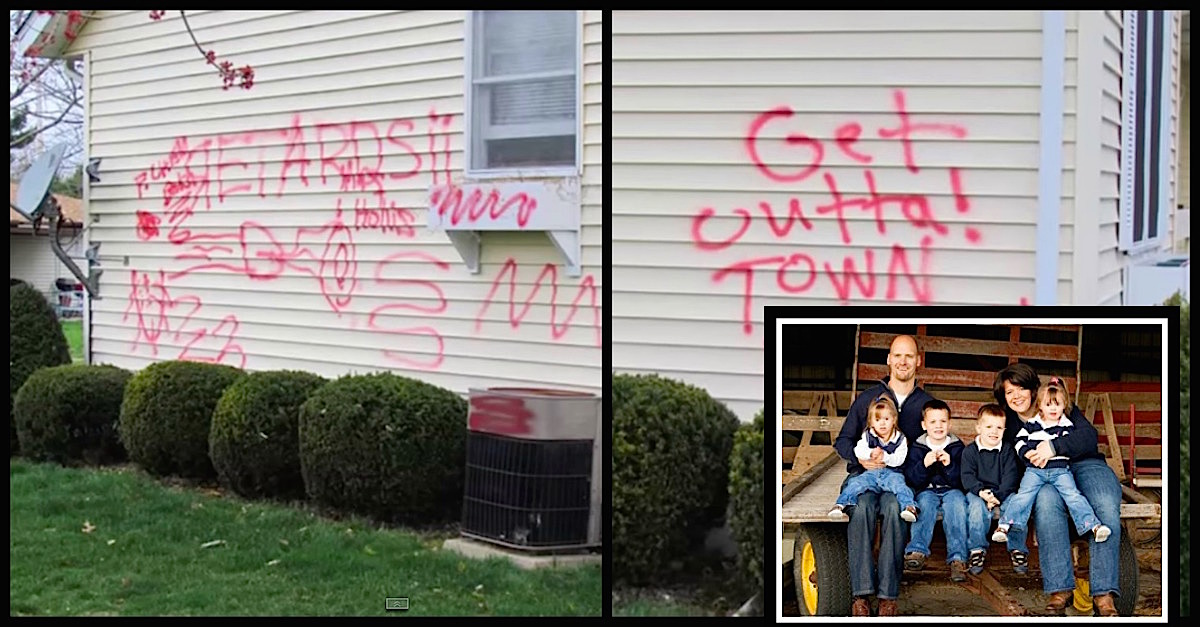 hollis.jpg - Vile Thugs Spray-Painted Hate Graffiti All Over Couple's House After They Adopted Two Sisters