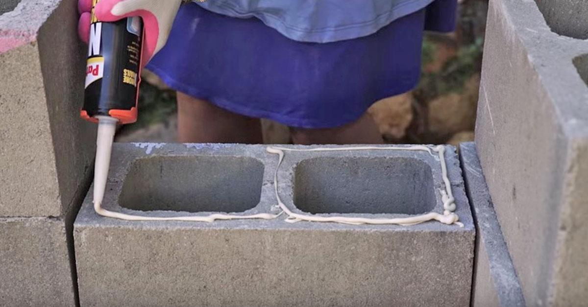Diy Patio Furniture Cement Blocks