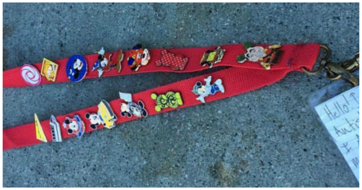 mickey pins cover.jpg - Disneyland Employee Desperately Looked For Lanyard's Owner As Note Indicated 'I Am Autistic'
