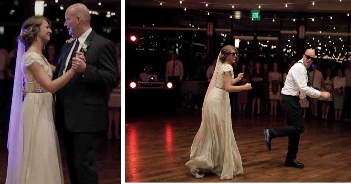 mikayla nate wedding dance.jpg - Father And Daughter Went Wild 20 Seconds After Starting Their Wedding Dance With A Traditional Song