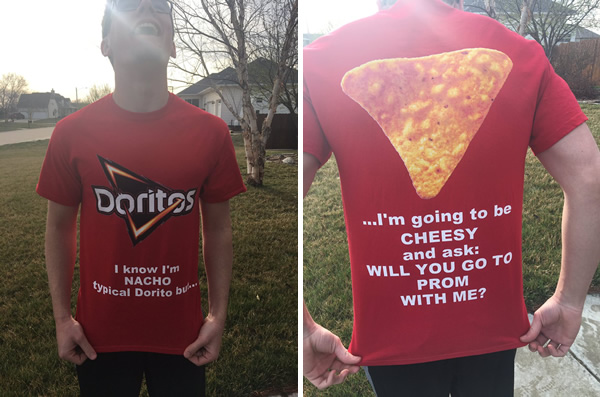 doritos.jpg - Teen Came Up With Extra Cheesy Prom Proposal Using His Date's Favorite Snack To Pop The Question