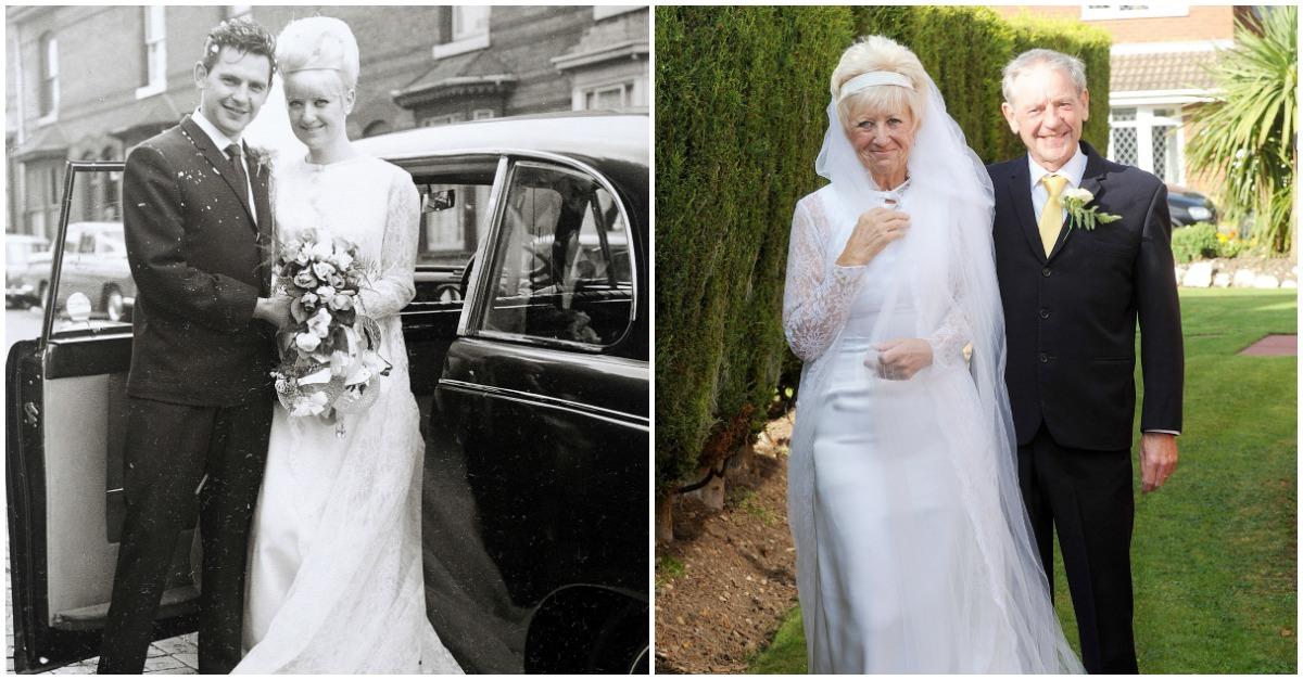 weddingclothes.jpg - Granddaughter Surprises Elderly Couple for 50th Wedding Anniversary