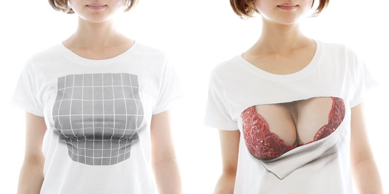 """1 16.jpg - 【話題】""""着ているだけで巨乳に見える""""…バストアップTシャツが大人気!"""