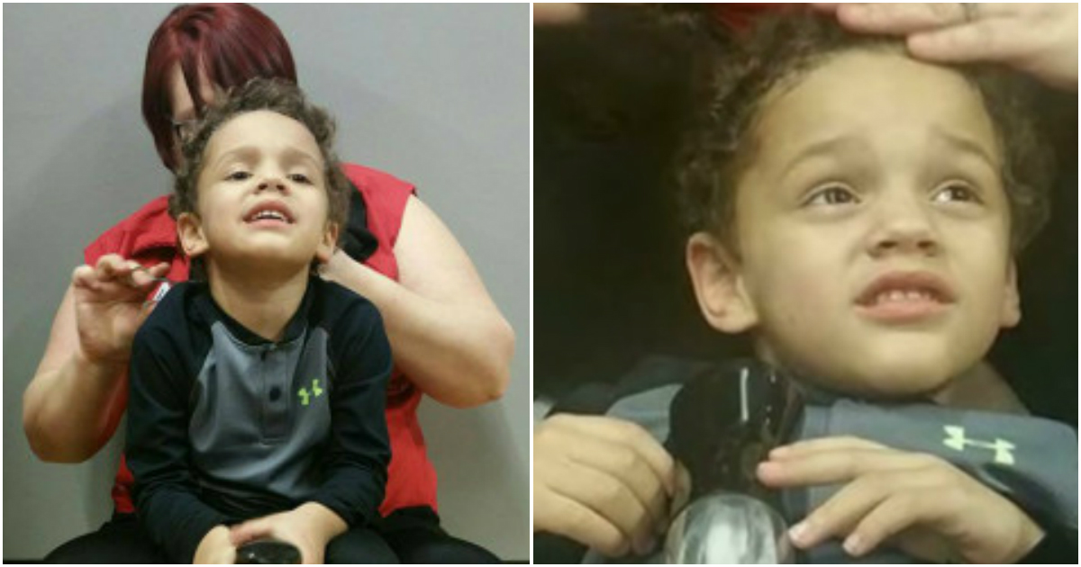 autism baby gets haircut 2.jpg - Barber Praised For Not Giving Up On Cutting Hair Of Boy With Autism