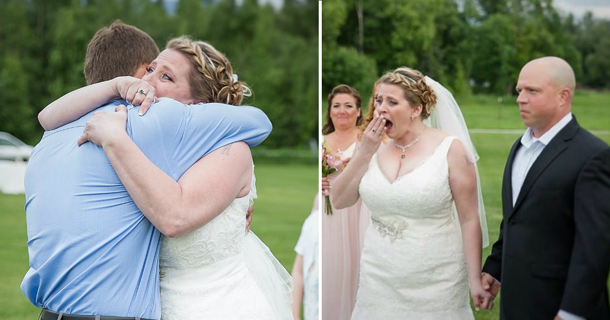 mom meets sons heart.jpg - Bride Paused The Wedding And Burst Into Tears After Seeing The Man Who Received Her Son's Heart