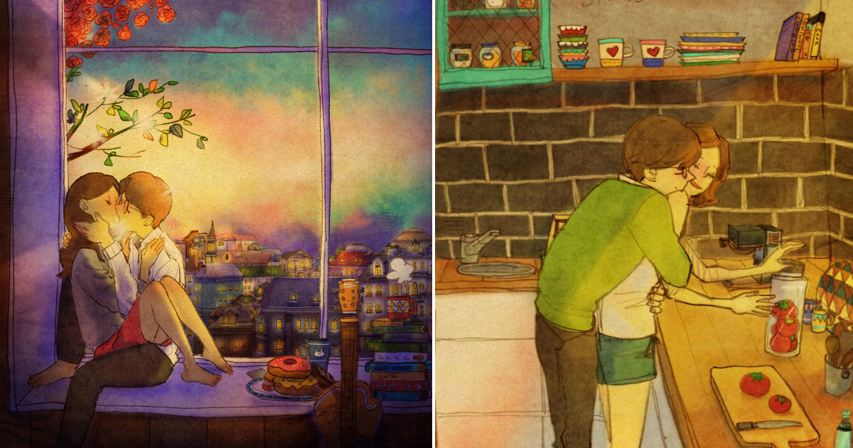 2 36.jpg - 소소한 일상 속에서 발견하는 '사랑'에 관한 일러스트 작품 (사진 23장)
