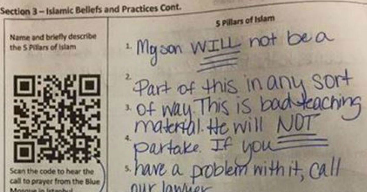 face image dsfgfds.jpg - Mom Outraged After Seeing Son's Homework So She Wrote A Note To His Teacher