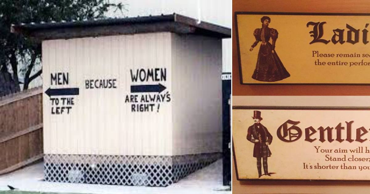 funnybathroomsigns.jpg - 16 Clever And Creative Bathroom Signs