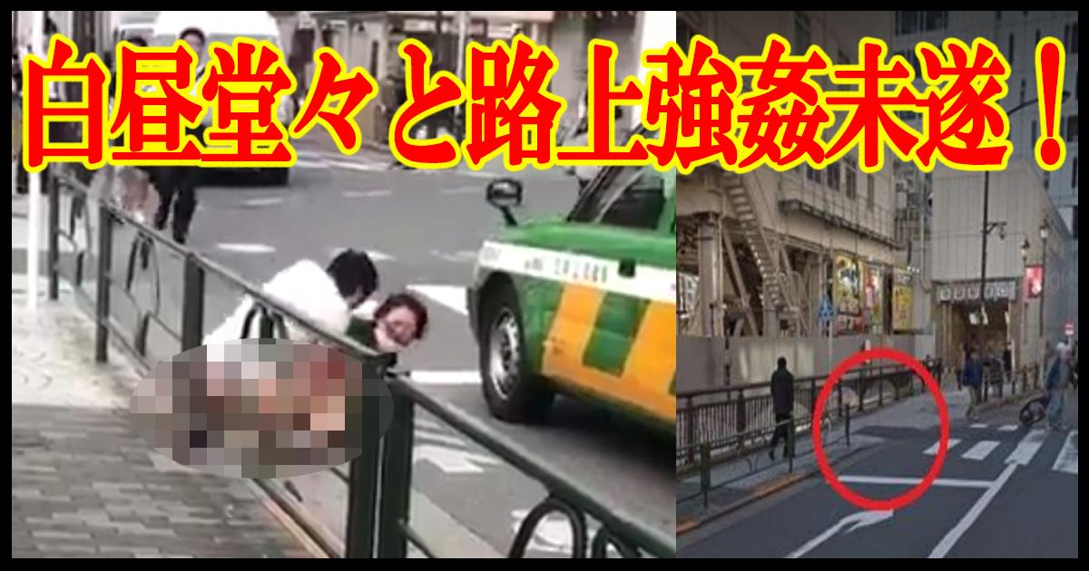 ikebukuro title.jpg - 【動画あり】レイプ犯の正体が判明された!白昼堂々と路上で半身露出の男性が強姦未遂