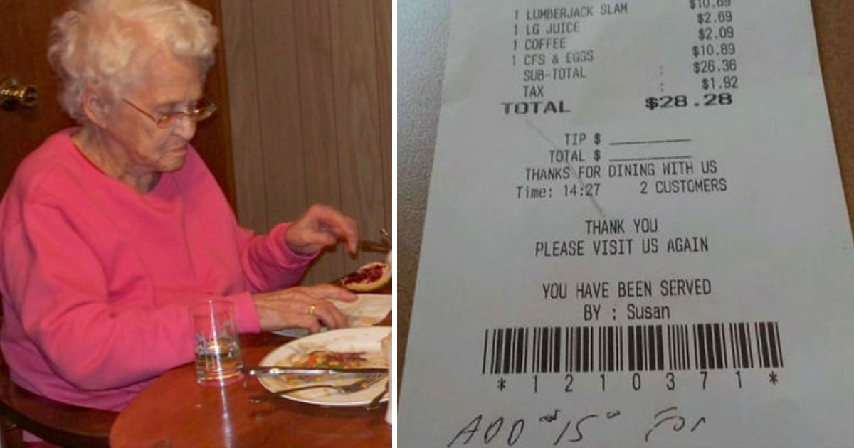 rude server.jpg - Manager Charged Elderly Woman $15 For 'Life Alert Button' Because She Accidentally Choked On Food