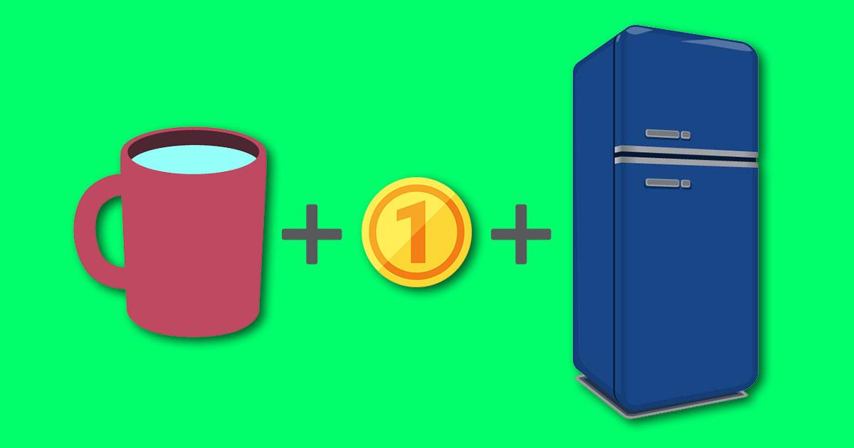 monedaytaza.jpg - No olvides colocar una moneda en el congelador cuando salgas de tu casa por varios días.