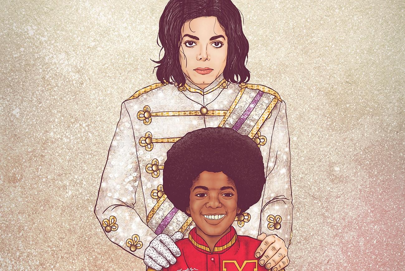63 1.jpg - 14 ilustrações que colocam celebridades lado a lado com seu eu do passado