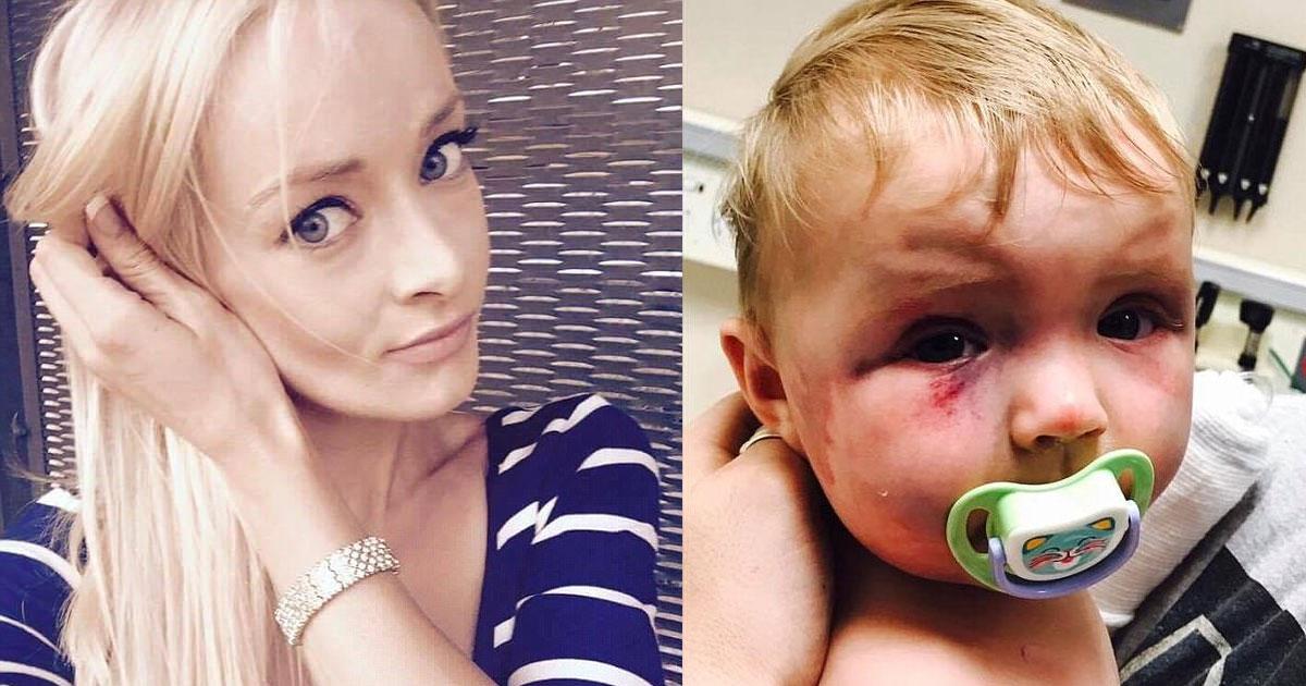 portada mujer golpeadora.jpg - Una joven y atractiva mujer golpea a su bebé y sorprendentemente es libre de cargos por parte de un juez.