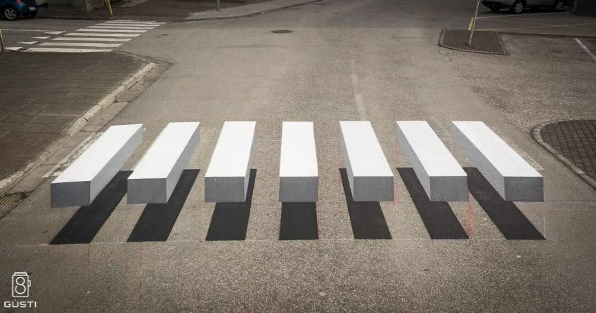 3d pedestrian crossing island 2 59f03455342f2  880.jpg - 아이슬란드에서 보행자를 보호하려고 도입한 '횡단보도'
