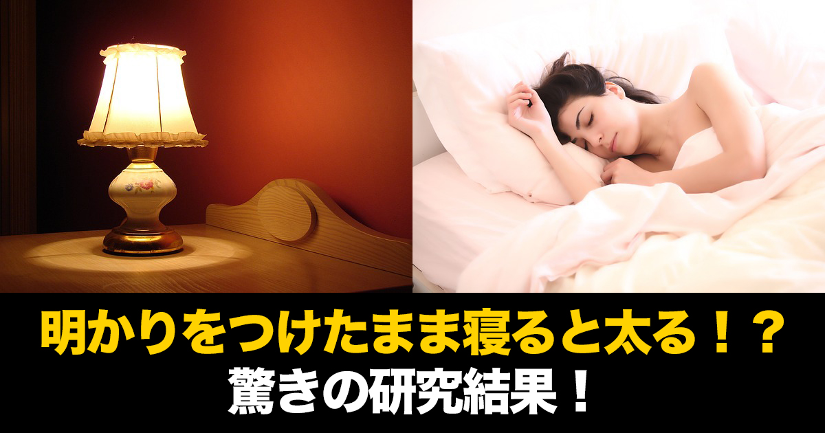 88 101.jpg - 明かりをつけたまま寝ると太る!?驚きの研究結果!