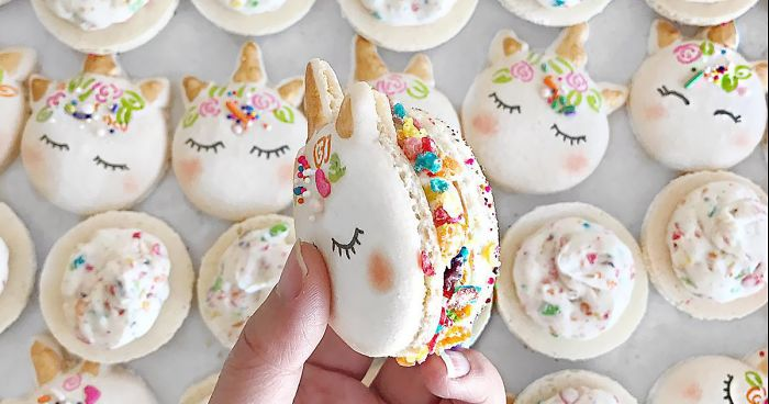cute unicorn macarons fb  700 png.jpg - The Most Magical Dessert Ever: Unicorn Macarons