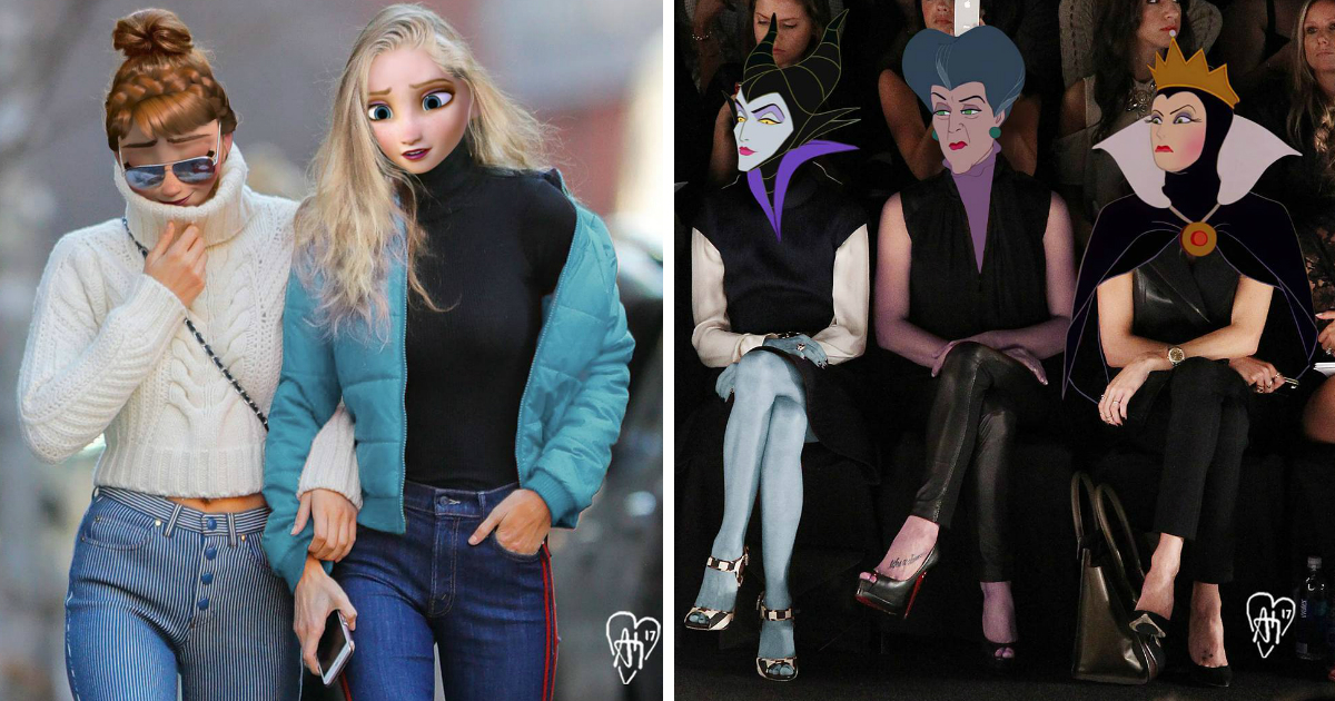 dosneyfin.jpg - Montagens mostram como personagens da Disney seriam na vida real