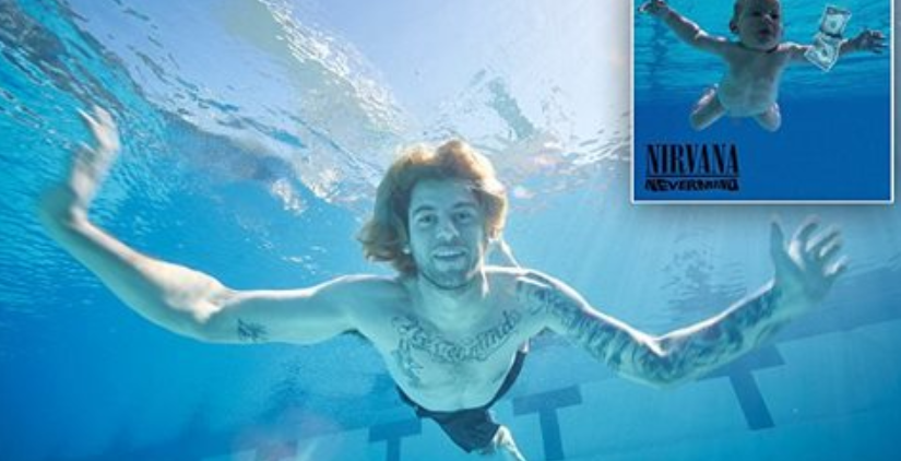 Nirvanas Nevermind baby recreates cover 25 years on
