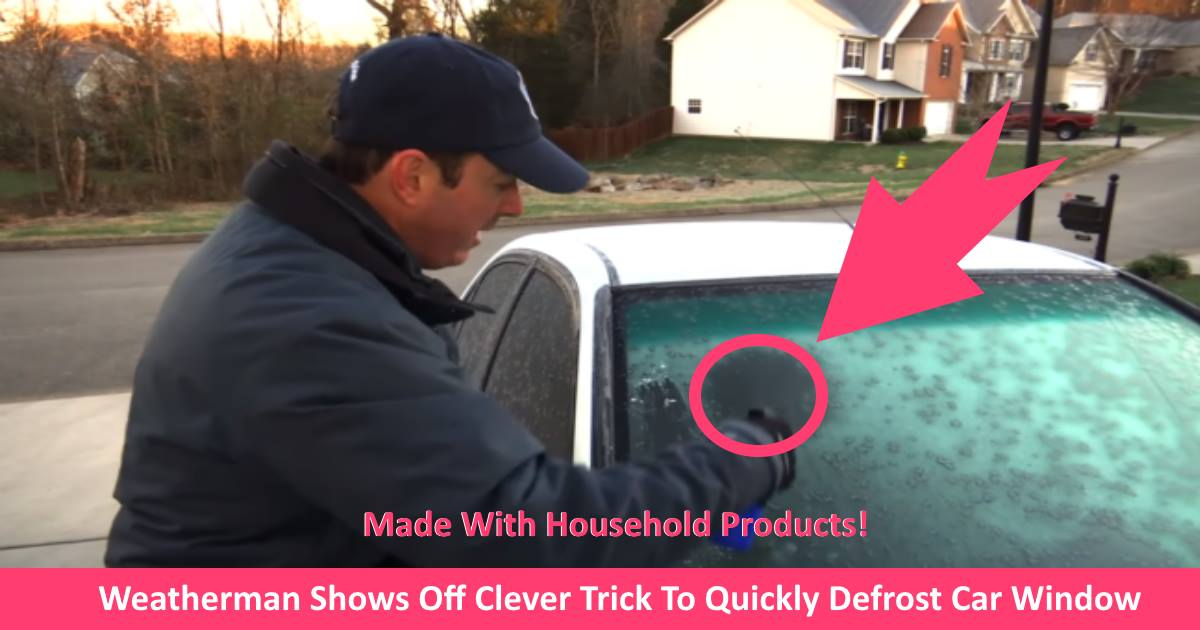 defrostwindows.jpg - Weatherman Showed Off Clever Trick To Quickly Defrost Car Window By Using Rubbing Alcohol