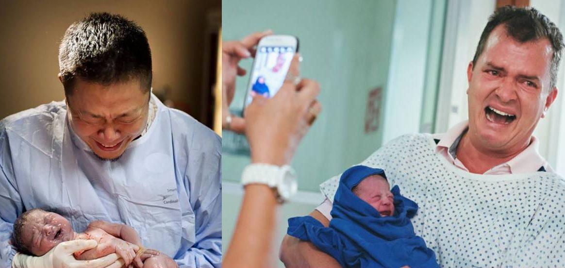 emotionaldads e1517558570718.jpg - 10 fotos emocionantes de pais na sala de parto!
