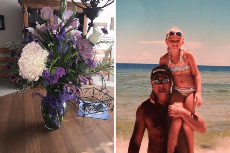 img 5a2638665dfa5 1.png - Mesmo tendo morrido há 4 anos, pai segue presenteando a sua filha com flores