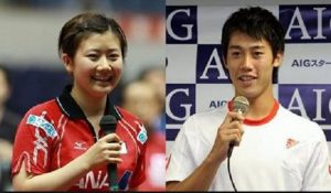Image result for 福原愛 錦織圭
