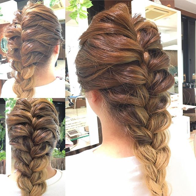 you can do without going to a hair salon easy knitting 18094806 1501044303252539 4637072350343331840 n.jpg - ヘアサロンに行かなくてもできる!!簡単な編み込みヘアアレンジを掲載!