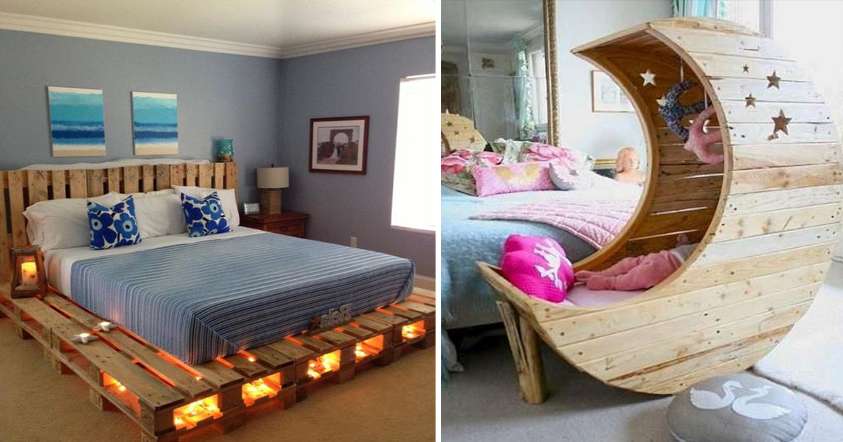 ec8db8eb84ac3 11.jpg - 16 Wooden Pallet Bed Frame Ideas To Make Your Bedroom Stylish On A Budget