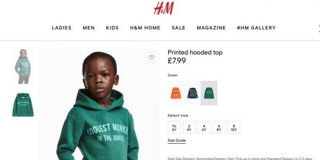 "img 5a545596c76de.png - 「H&M」、人種差別の非難に謝罪 ""猿""と書かれたパーカーに黒人少年を起用"