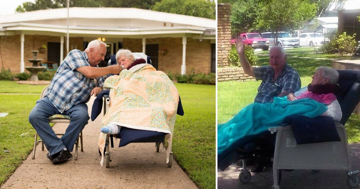 sweetcouple3 1.jpg - Husband Went Viral For Sitting With His Dying Wife By The Road And Waving At Passing Cars