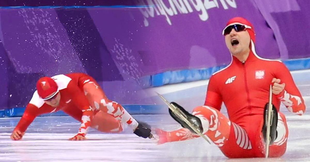 eca09cebaaa9 ec9786ec9d8c 1 ebb3b5eab5aceb90a8 ebb3b5eab5aceb90a8 ebb3b5eab5aceb90a8 43.jpg - '한순간에 날아간 4년'… 시작 1초 만에 얼음에 걸려 넘어진 폴란드 선수 (영상)