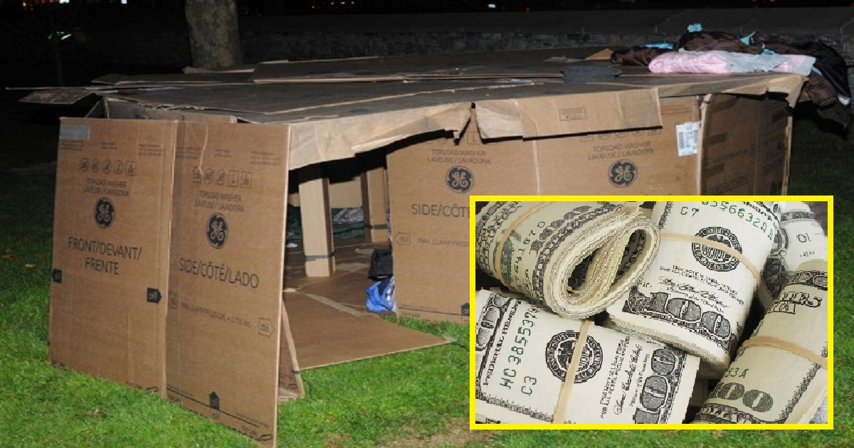 98dhfls.jpg - Homeless Man Lived In Cardboard Boxes For 3 Years Until Cops Found His Forgotten Bank Account