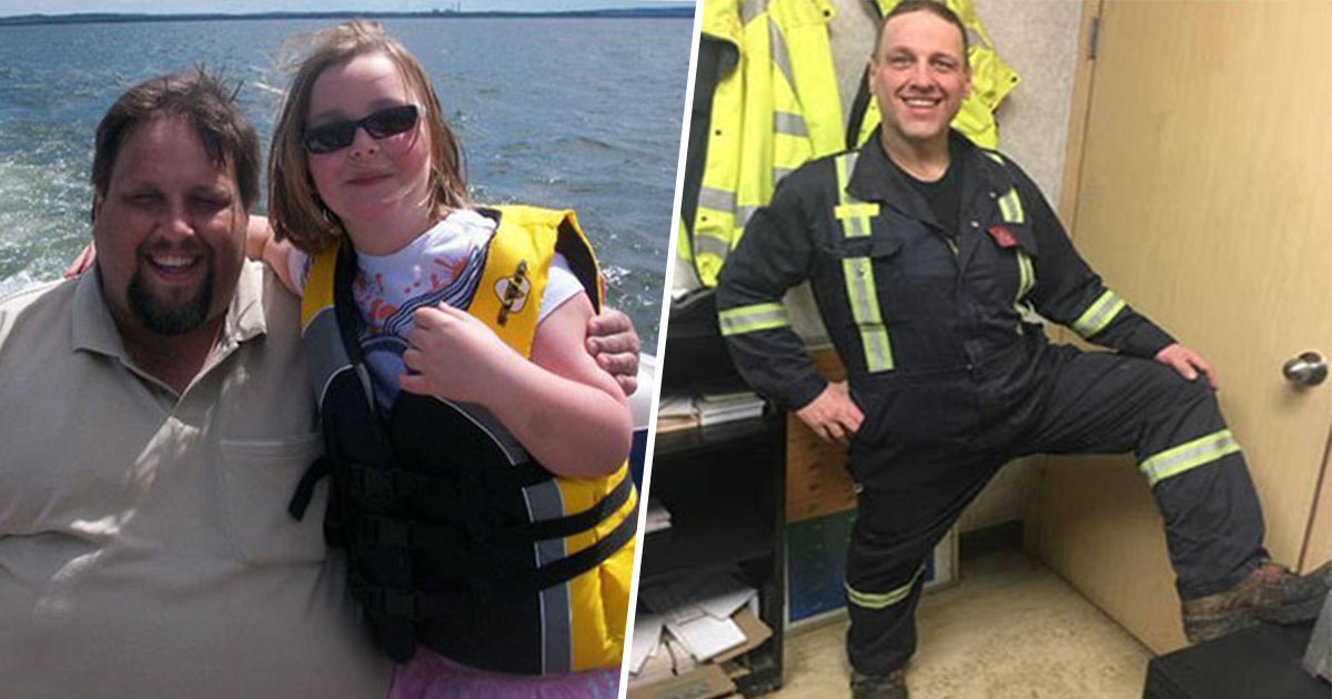 14ec8db8eb84ac.jpg - Un père obèse se transforme après avoir fait face à une évacuation qui a mit sa vie en danger