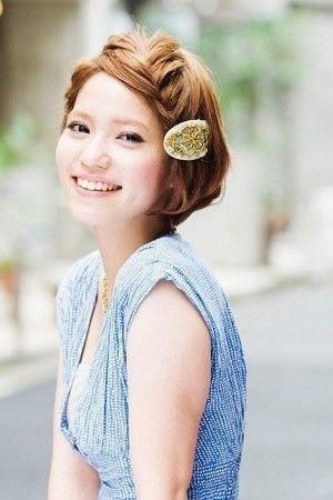 ショートヘアの前髪の編み込み에 대한 이미지 검색결과