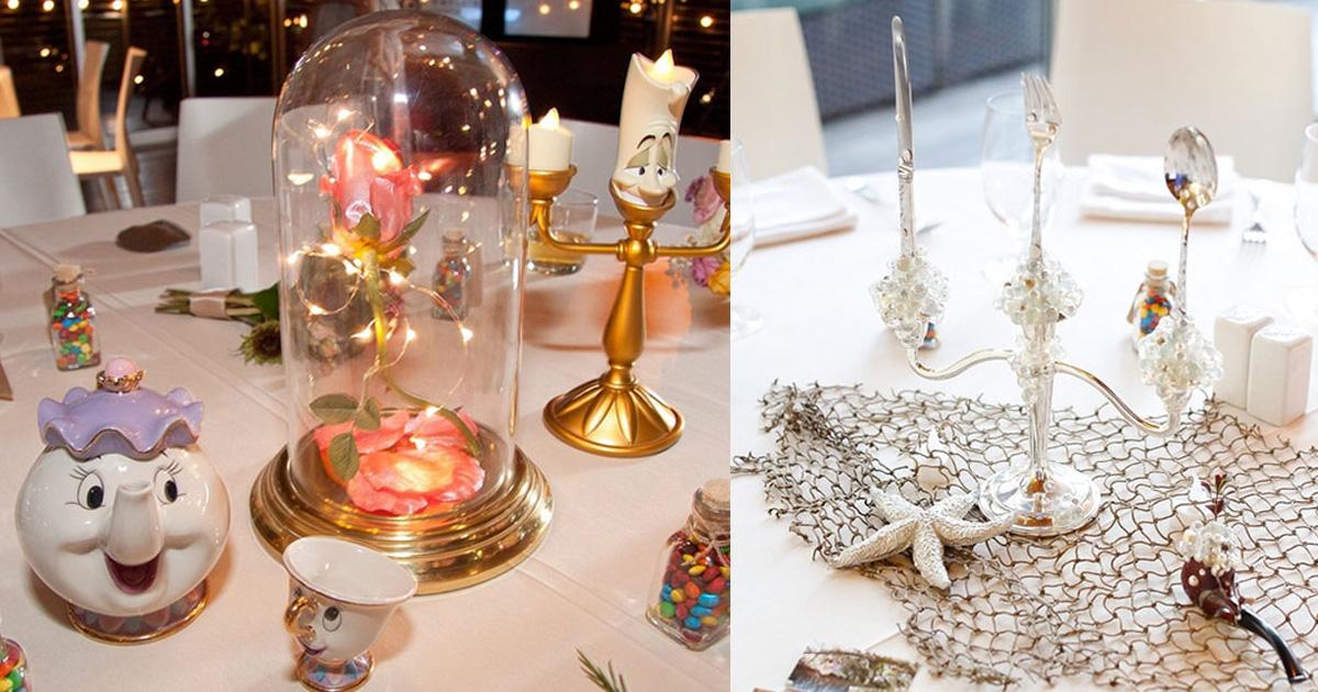 disney.jpg - Les tables de réception, inspirées de Disney, au mariage de ce couple font le buzz sur Internet
