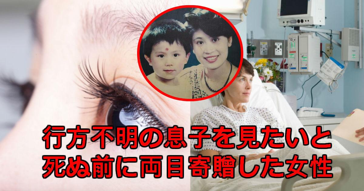 eyes 1.jpg - 死んでも失った息子を見てみたいと「角膜寄贈」してこの世を去った母