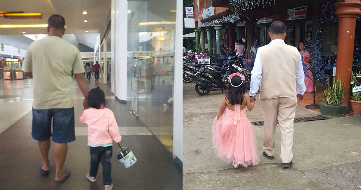 featured 1.jpg - Mom Has Been Secretly Photographing Her Husband And Daughter Holding Hands While Walking