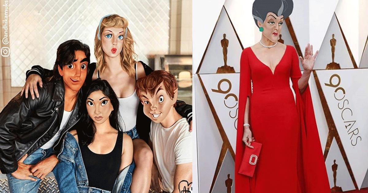 featured.png - L'artiste Andhika Muksin photoshope des personnages de Disney sur des photos prises par des célébrités et des paparazzi. Le résultat est incroyable