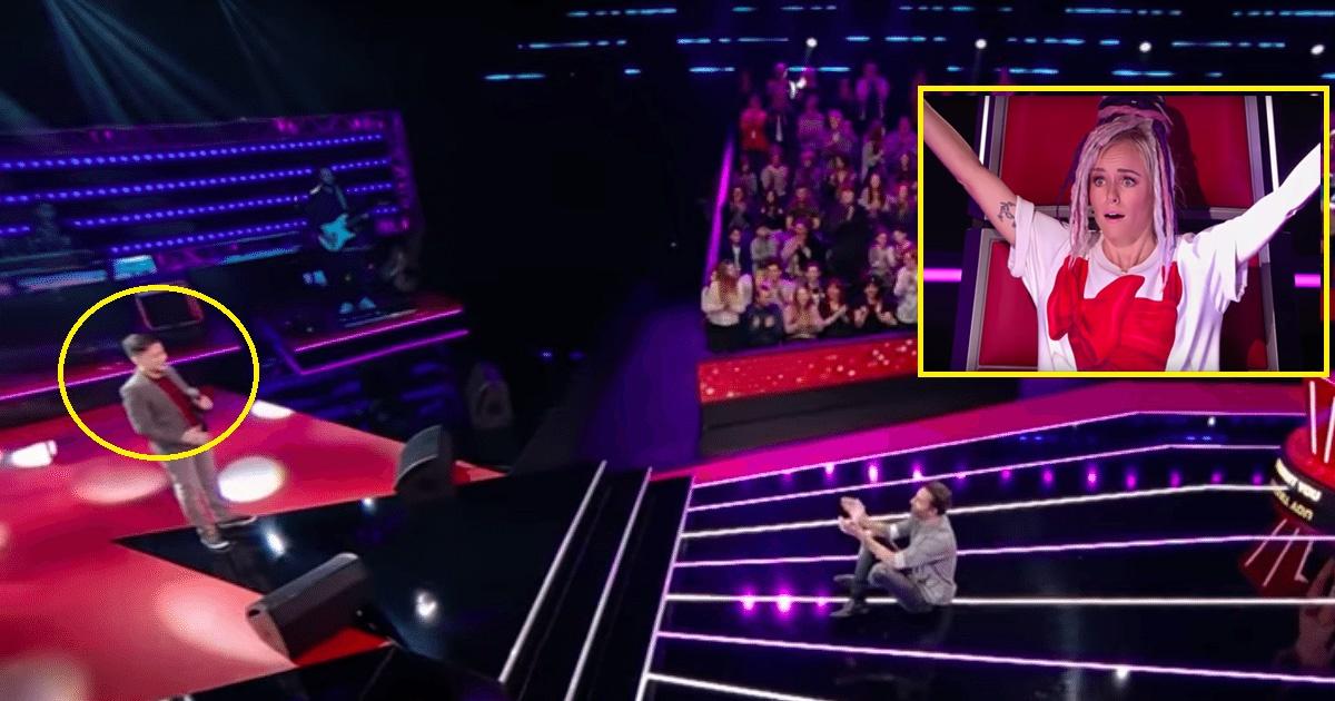 shy.jpg - Ce timide garçon reprenant Céline Dion obtient une standing ovation sur 'The Voice Kids'
