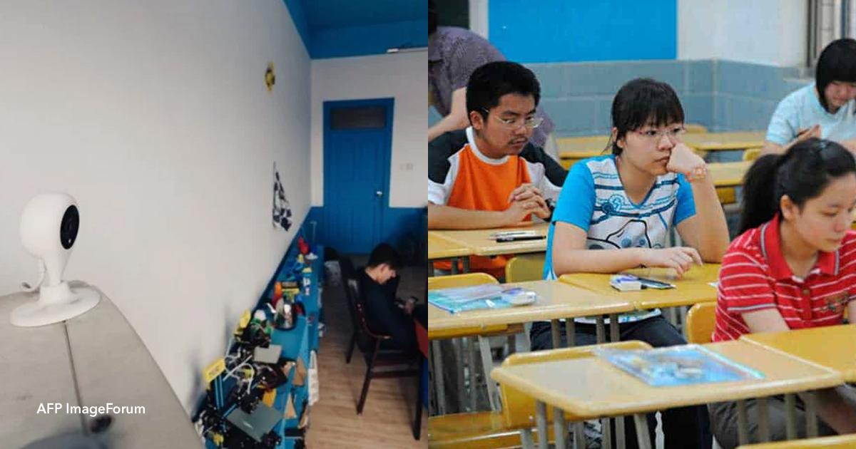 2 op 1.jpg - En China comenzaron a poner cámaras con reconocimiento facial para controlar que el colegio los alumnos presten atención